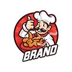 厨师吉祥物标志