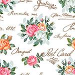 复古手绘花卉背景