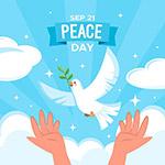 国际和平日矢量