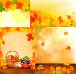 秋天枫叶蔬菜