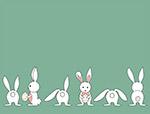 可爱白色小兔矢量