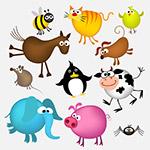 有趣的卡通动物