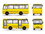 黄色巴士矢量素材