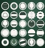 复古风格圆形标签