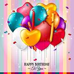 生日快乐彩色气球