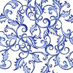 蓝色花卉装饰无缝背景