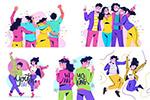国际青年日插画