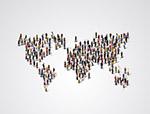商务人群世界地图