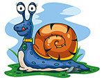 可爱蜗牛矢量