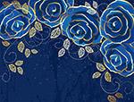 蓝色玫瑰背景
