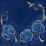 蓝色玫瑰背景2