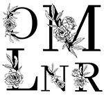 线描花朵装饰的字母