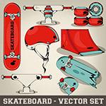 滑板运动元素