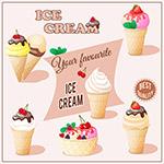 美味的甜筒冰淇淋