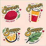 夏季标签元素