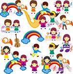音乐主题卡通儿童