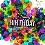 生日快乐缤纷色彩背景