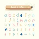 可爱字母设计矢量
