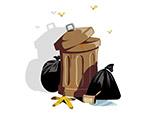 垃圾桶和垃圾袋