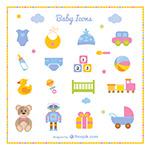 婴儿用品和玩具图标