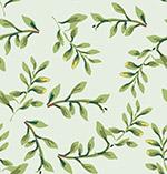 手绘树叶无缝背景