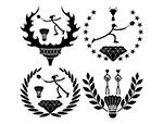 羽毛球运动徽章
