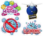 卡通新冠病毒细胞