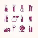 化妆品和化妆工具图标