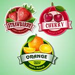 3款水果标签矢量