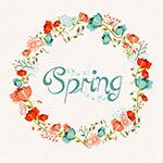 漂亮的春天花环