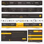 黄黑配色网页导航菜单