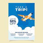 旅行画报式宣传单
