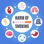 吸烟有害健康矢量