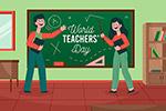 教师节庆典插画