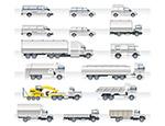 货车和卡车矢量