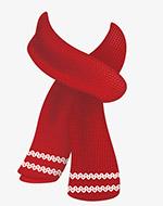 秋天温暖红色围巾