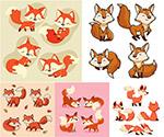 可爱小狐狸矢量