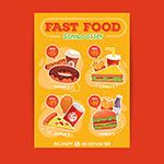 速食套餐海报矢量