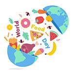 世界粮食日插画