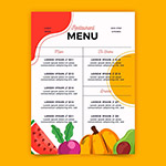 彩绘果蔬矢量菜单