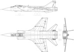 米格31线稿