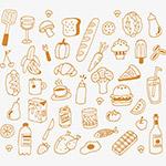 手绘食物背景