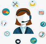 客户售后服务内容插画