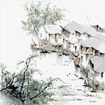 矢量中国风国画