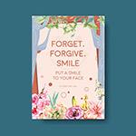 世界微笑日概念海报