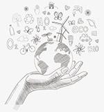 地球环保铅笔画