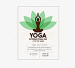 矢量瑜伽海报