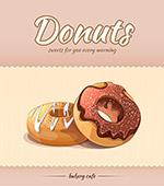 面包店甜甜圈广告
