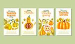 感恩节水彩卡片