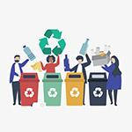 垃圾分类回收人物